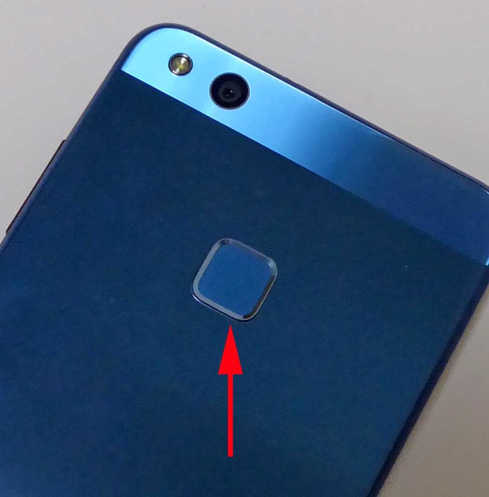 p10 liteの指紋認証センサー